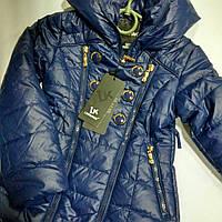 Куртка-пальто темно синяя и бирюзовая подростковая демисезонная