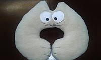 Дорожная подушка-валик из овечьей шерсти «Гарфилд»