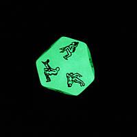 Отличная игра для двоих) Многогранный кубик. Неоновый, фото 1