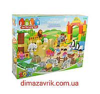 """Конструктор JDLT 5096 (Аналог Lego Duplo) """"Зоопарк"""" 115 деталей, фото 1"""