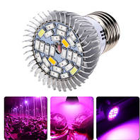 Для растений лампа полного спектра AC85-265V 28 Вт  E27 500lm