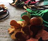 Агатовое колье, Колье ручной работы с желудями, Осенняя коллекция украшений MGS, фото 9