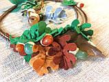 Агатовое колье, Колье ручной работы с желудями, Осенняя коллекция украшений MGS, фото 2