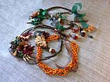 Агатовое колье, Колье ручной работы с желудями, Осенняя коллекция украшений MGS, фото 8