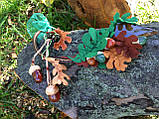Агатовое колье, Колье ручной работы с желудями, Осенняя коллекция украшений MGS, фото 6