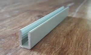 П образный профиль для поликарбоната 8х12х1,5 / анод серебро