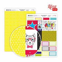 Бумага декоративная для скрапбукинга двухсторонняя А4 Color style 8 ROSA Talent
