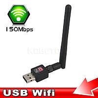 USB WIFI 150 Мбит/с 802.11n адаптер с поворотной антенной