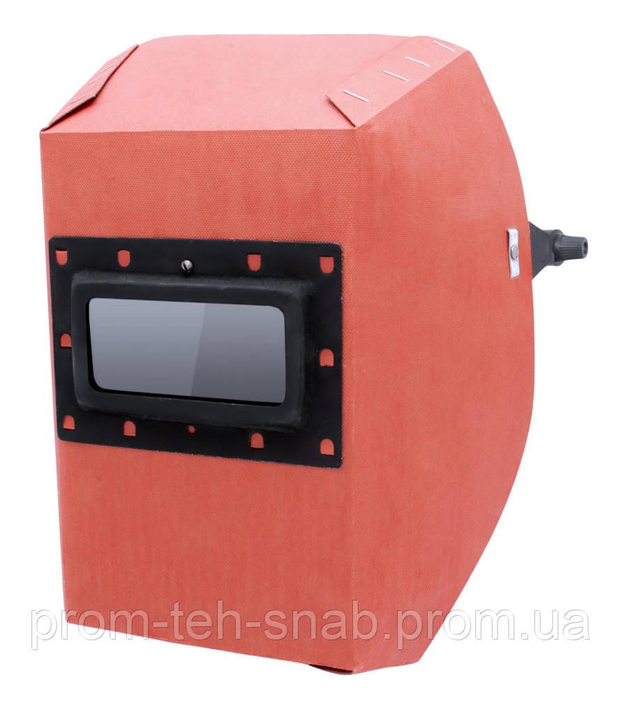 Маска сварщика фибра-картон 1,0мм -  красный цвет