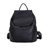 Женский рюкзак черный дешевый экокожа, фото 1