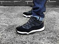 Женские кроссовки Nike Air Jordan 11 Black Gold (Реплика ААА+)