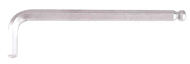 Ключ 6-гранный (HEX) Г-образный с шаром экстрадлинный 10 мм, L=40/224 мм