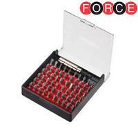 """Набор бит 1/4"""" магнитная насадка с фиксатором 61 пр. (Force 2611B)"""