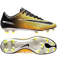 Футбольные мужские бутсы Nike Mercurial Vapor XI FG Laser Orange, фото 1