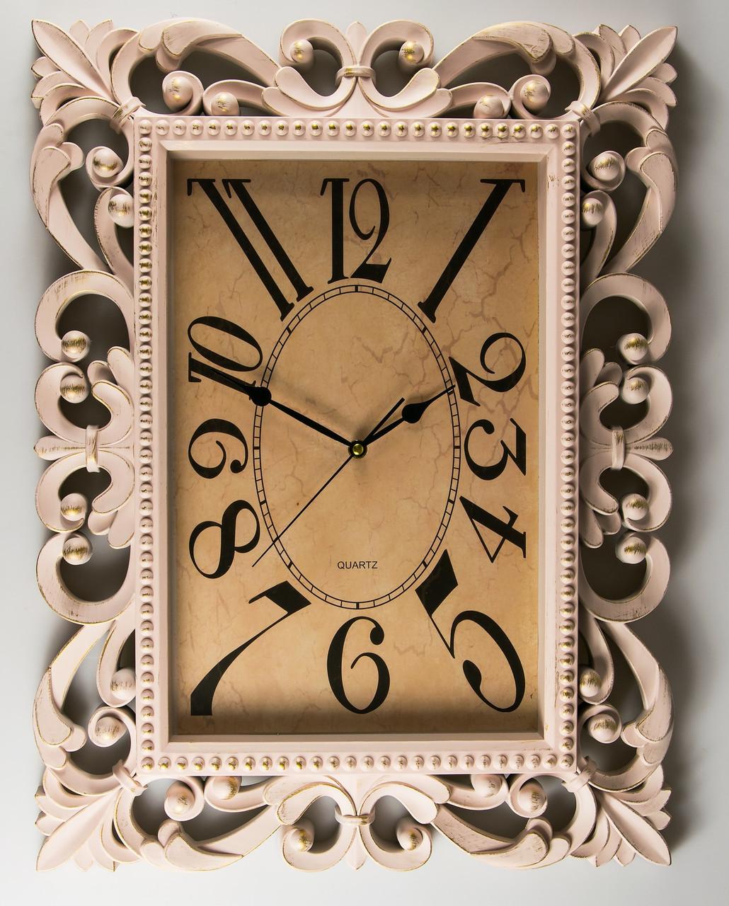 Часы прямоугольные 46*61 см 072A/cream