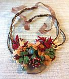 Агатовое колье, Колье ручной работы с рябиной, Осенняя коллекция украшений MGS, фото 2