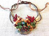 Агатовое колье, Колье ручной работы с рябиной, Осенняя коллекция украшений MGS, фото 3