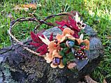 Агатовое намиста, Кольє ручної роботи з горобиною, Осіння колекція прикрас MGS, фото 5