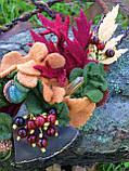 Агатовое колье, Колье ручной работы с рябиной, Осенняя коллекция украшений MGS, фото 8