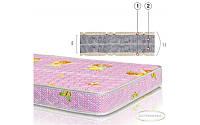 Матрац Фаворит-Біо 8см 140*60 Велам (серія Бейбі) волокна конопель, фото 1