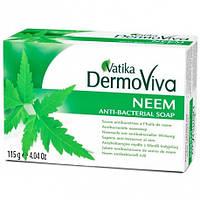 Антибактериальное мыло с нимом Dabur Vatika DermoViva Neem Anti-Bacterial Soap 115г