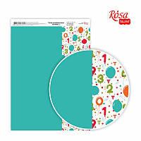 Бумага декоративная для скрапбукинга односторонняя А4 Вirthday 3 ROSA Talent