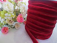 Лента бархатная, 1 см, цвет бордовый (марсала), фото 1