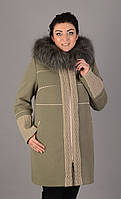 Пальто зимнее свингер 46-58  фисташка