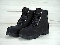 Ботинки зимние унисекс Timberland нубуковые искусственный мех р. 36-45, фото 1