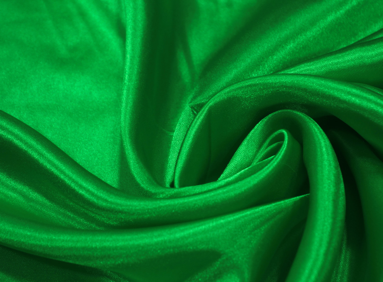 Ткань креп- сатин зеленый