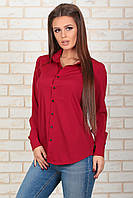 Рубашка классическая красная