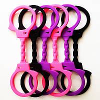 Силиконовые цветные наручники, фото 1