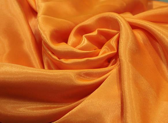 Ткань креп- сатин оранжевый, фото 2