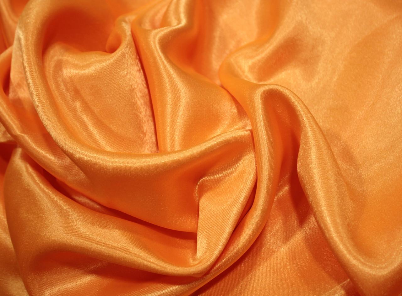 Ткань креп- сатин оранжевый