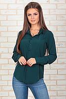 Рубашка классическая темно-зеленая