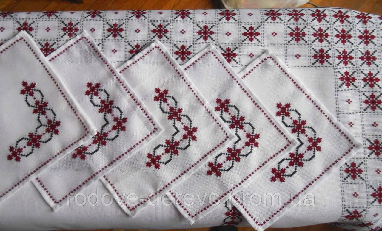 Набор вышитая скатерть с салфетками ручной работы Бордо  продажа ... 665e6c1c10ae9