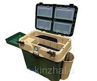 Ящик для зимней рыбалки с термометром, очень теплый верх, большая вместительность, фото 1