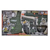 Детский игровой набор полицейского 33480, бронижилет, маска, пистолет, автомат, 9 предметов, игровые наборы