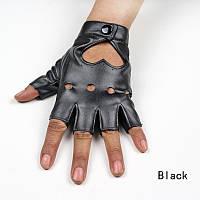 Стильные перчатки - митенки (кожа PU), фото 1