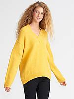 Полувер Oversize в желтом цвете