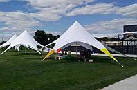 Шатер Звезда, 10 метров, белый со вставками - РАДУГА - однокупольный, фото 1