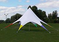 Аренда палатки Звезда,  белый, с яркими ножками-лучиками