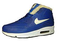 Зимние мужские кроссовки Nike Air Max Sneakerboots 90 Blue, на меху