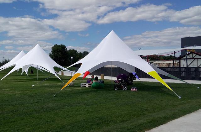 Палатка цветная