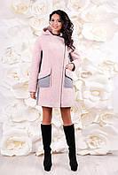 Женское зимнее пальто от производителя. Пальто П-1057 Chaplin Fresco+Кашемир Тон 202, размеры 44--54