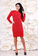 Вязанный трикотаж. Платье ВП-1086  Тон 28