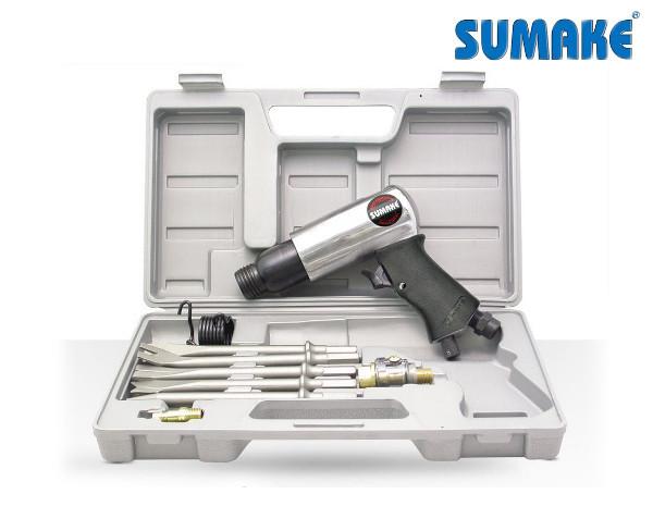 Зубило пневматическое с комплектом насадок (Sumake ST-2312K/H)