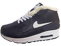 Зимние мужские кроссовки Nike Air Max Sneakerboots 90 Black, на меху