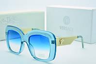 Солнцезащитные очки квадратные Versace голубые