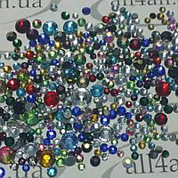 Стразы для дизайна ногтей Микс Разноцветный 750 шт